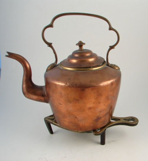 Antique Copper Tea Kettle - Sears