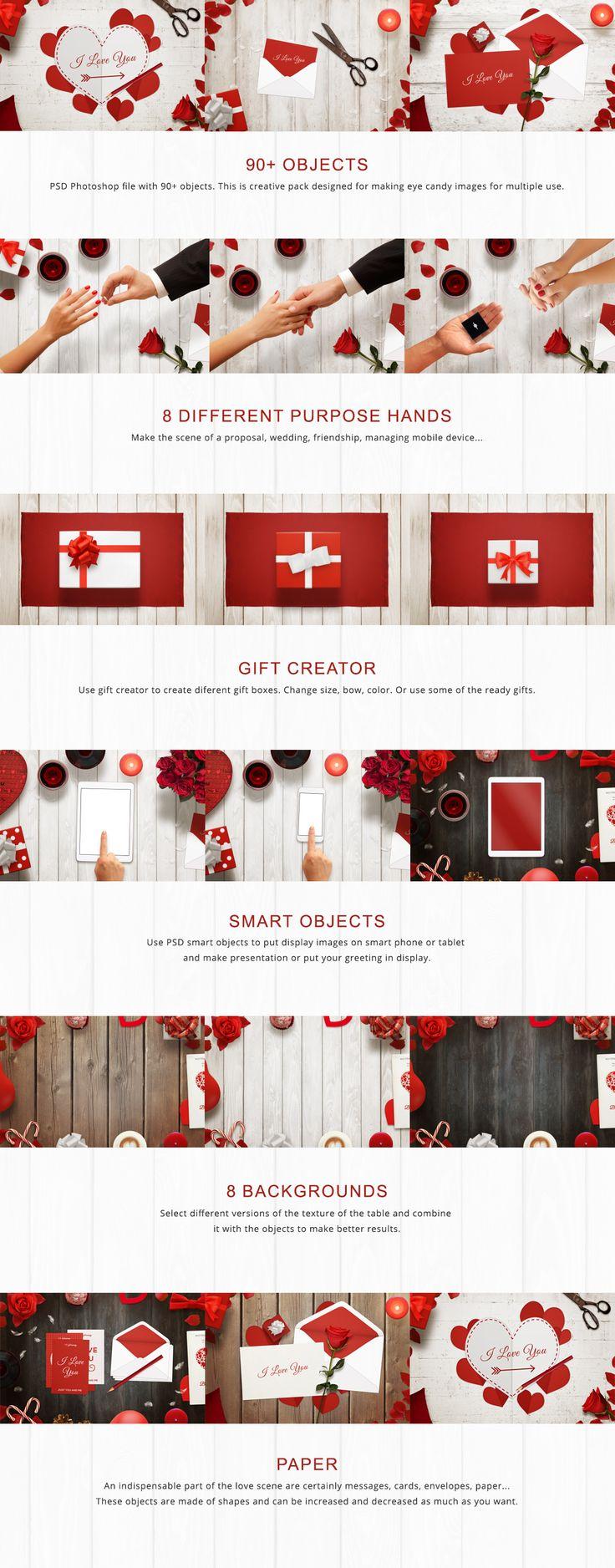 Valentine Mockup Scene Creator by RSplaneta on Creative Market