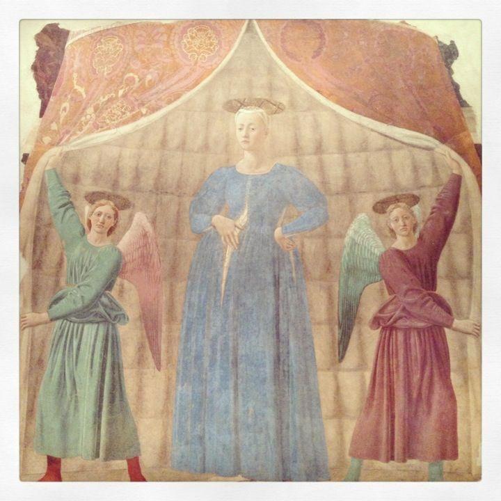 Madonna del Parto di Piero della Francesca ( Toscana)