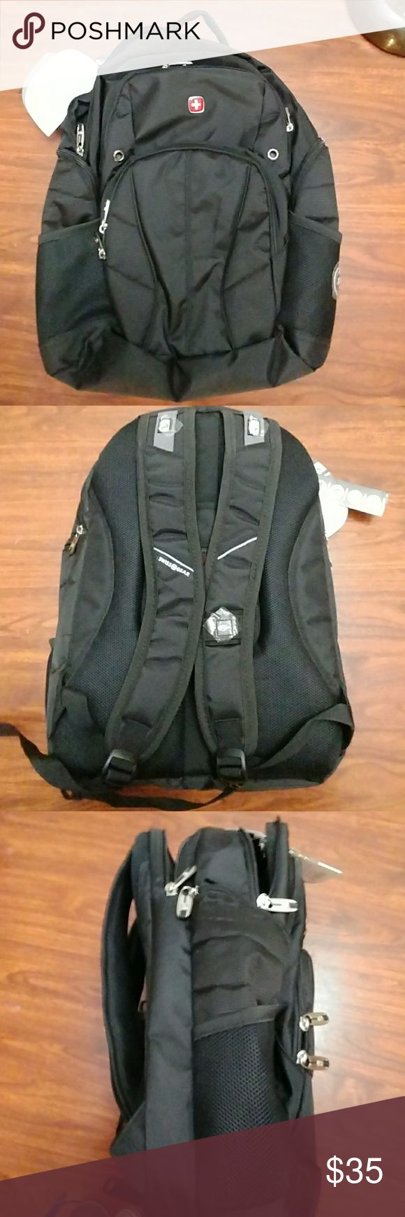 NWT Swiss Gear backpack!! NWT Swiss Gear backpack!! Black, sleek design will hold all your school or work needs! SwissGear Bags Backpacks