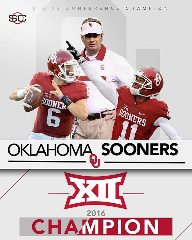 BOOMER SOONER!  No. 9 Oklahoma is your Big 12 Champion with a 38-20 win over No. 10 Oklahoma State.