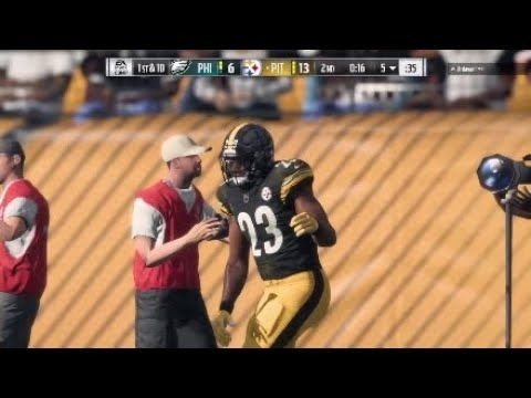 Madden NFL 18: Steelers Takeover: PS4 Gameplay.  In todays video I will be playing Madden NFL 18, in a online macthup vs the Eagles. Madden NFL is a Football gaming franchise that has been around since the late 1980s. I don't usually play football games but I wanted to showcase this video to entertain my subscribers. I was thinking about doing a Madden 19 franchise mode but im not sure if Im going to do that yet. Enjoy the Video!