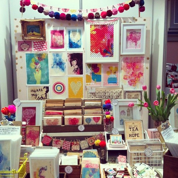 Sweet William stall all ready to go at Magnolia Square, Malvern Town Hall, we will be here until Saturday pm by paulamills, via Flickr