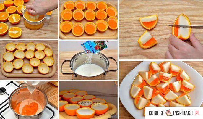 pomarańczowe galaretki