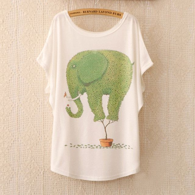 2016 Fashion Women Tops Tees Cute Dream Catcher Printing Cotton T-shirt Women's Short Batwing Sleeve Tshirt on Sale