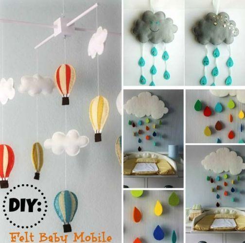 Decoratiuni pentru camera copii din fetru