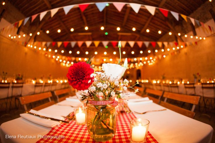 pingl par LAtelier du Bonheur Wedding planner sur Mariage guinguette  Dcoration
