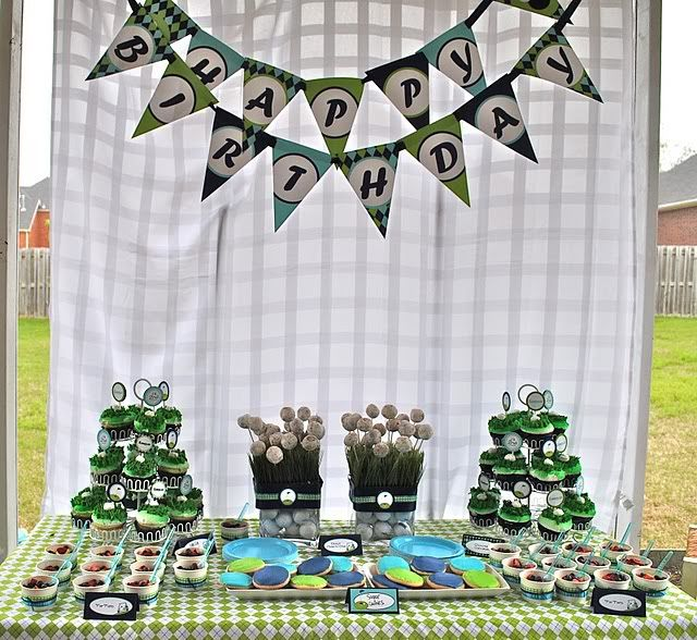 87 best images about golf themed party ideas on pinterest for Golf decoration ideas