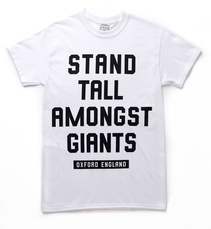 Underground Outfits Feature: © STAG Clothing - Statement Tee (White) -- Visit our online store at: shop.undergroundoutfits.com. -- #streetwear #urban #clothing #fashion #style #tee #tshirt #white #black #statement #motivation #standtall