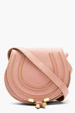 CHLOE Dusty rose Small Marcie shoulder Bag