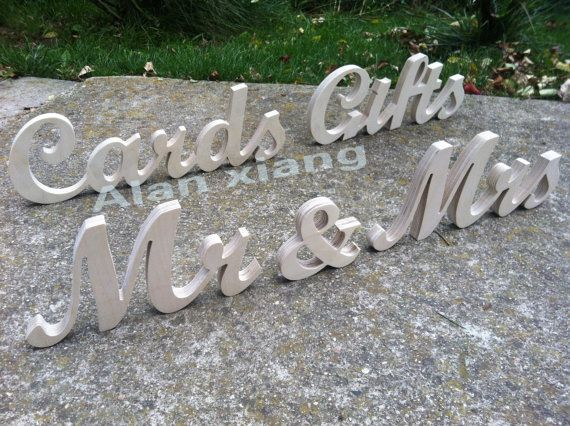 free shipping Mr & Mrs CARDS GIFTs  wedding wood signs set