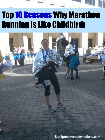 10 comical reasons of how running a marathon relates to childbirth