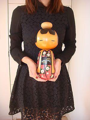 F/S Japanese sosaku kokeshi doll by Kano Chiyomatsu 31.5 cm 12 1/4 inch