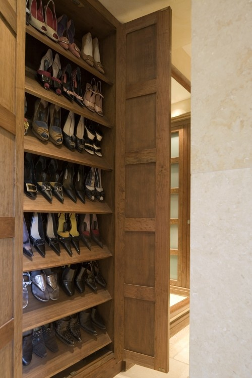 Shallow Built In Cabinetry Provides Shoe Storage Solutions Custom Pinterest Closet Designs And