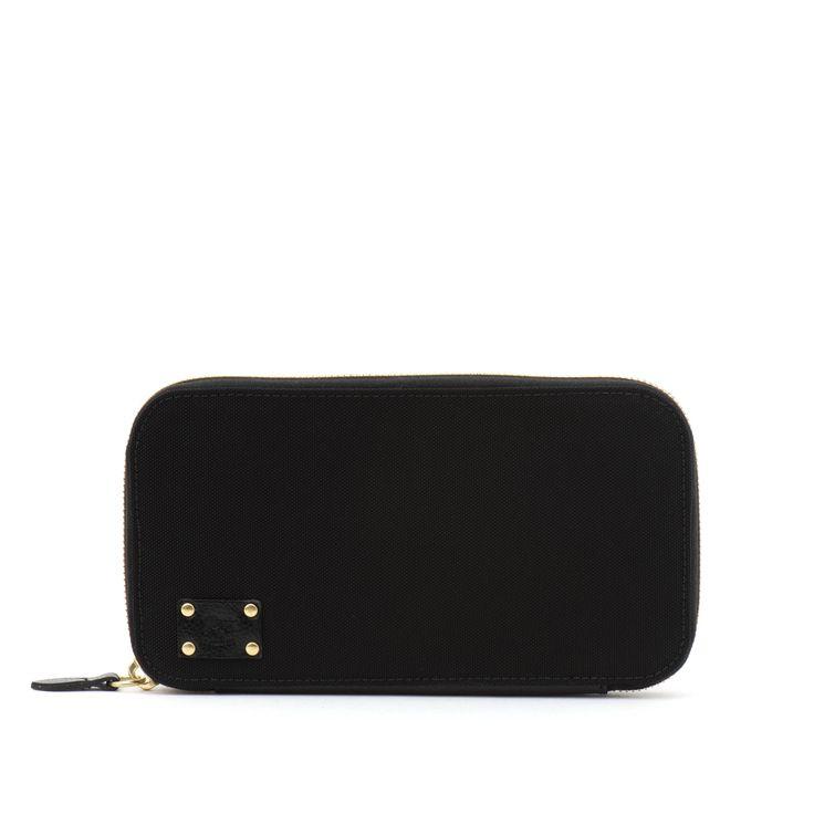 Buy Wallet  In Nylon C1010 (Black Color) in the Il Bisonte online shop.