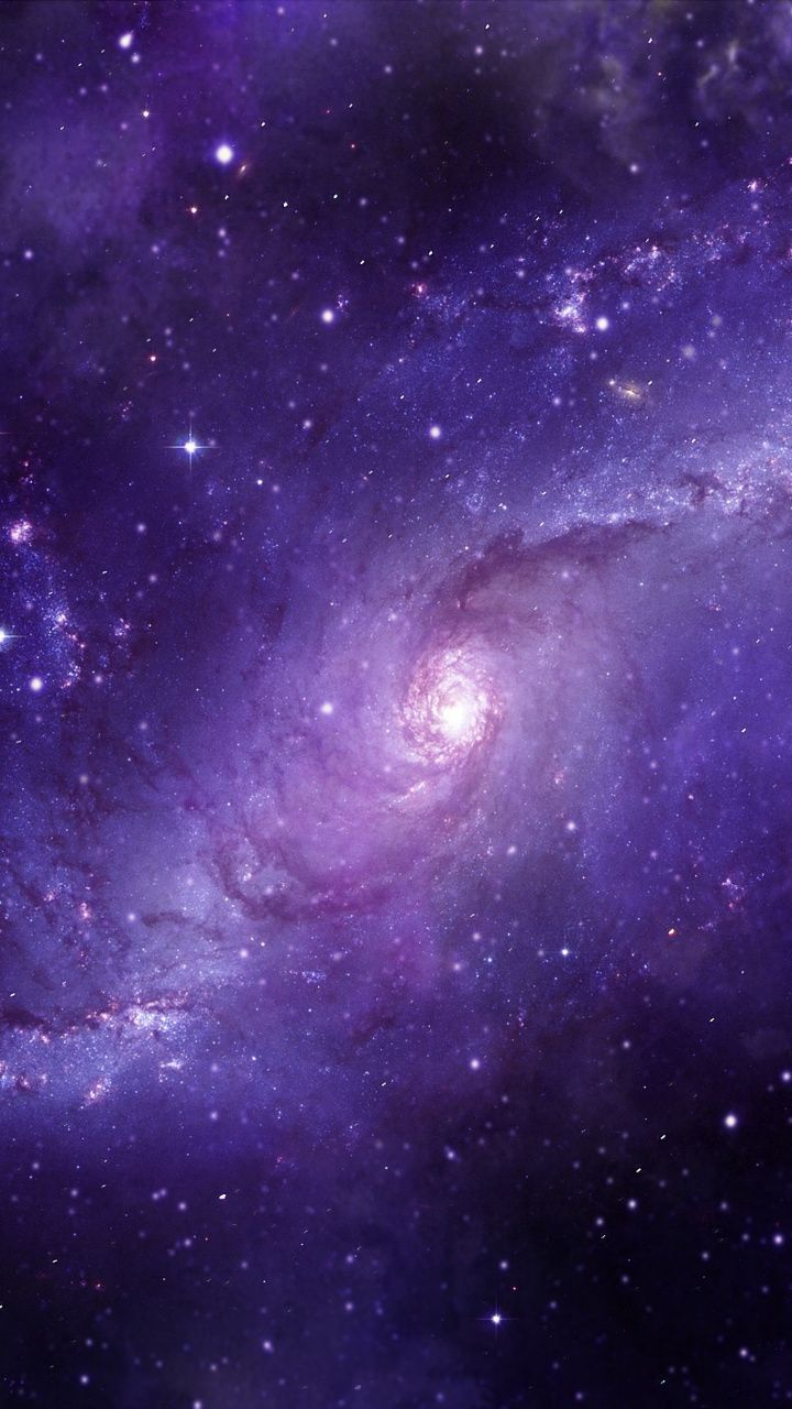 Spiral Galaxy Blue Clouds Space Fantasy 720x1280 Wallpaper