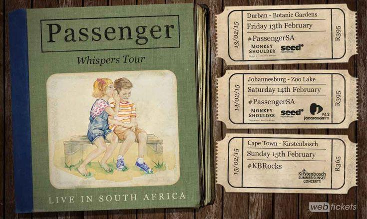 Passenger's Journey To SA on Whispers World Tour