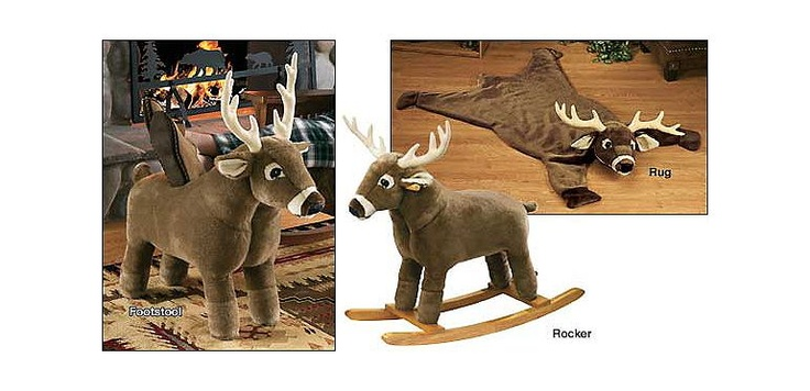 Plush Deer Footstool Rocker And Rugs At Cabelas