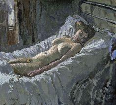 Walter Sickert ~ Mornington Crescent Nude ~ 1907 ~ Olieverf op doek ~ Fitzwilliam Museum, University of Cambridge, Cambridge