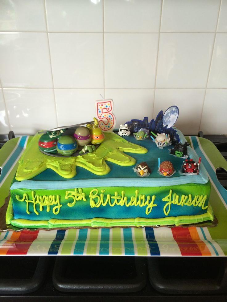 15 best Jaxsons 5th Birthday Ninja Turtles and Star Wars Angry