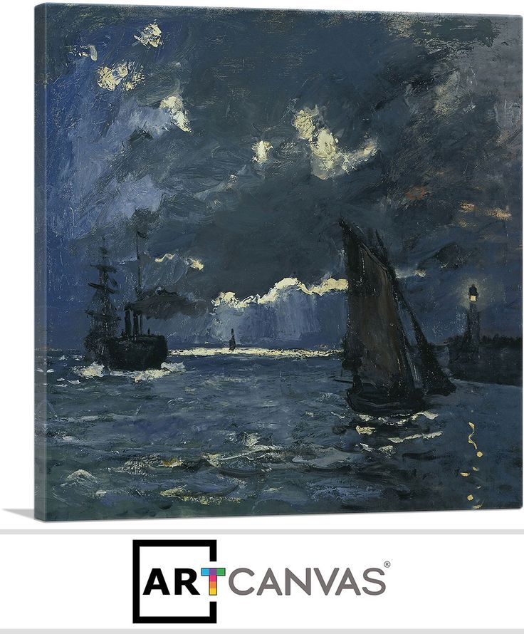 Seascape Night Effect 1866 Canvas art, Canvas art prints