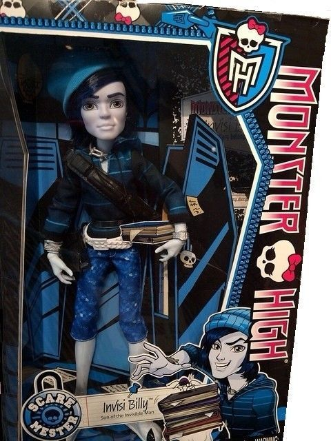 Monster High ** INVISI  BILLY ** ScareMester boy doll Pre-Sale WOW!! INVISIBILLY