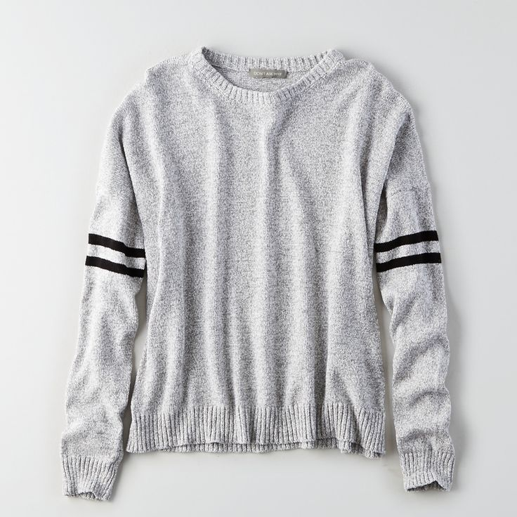 American Eagle Outfitters' fresh take on a varsity sweater is sooo good. It's not too literal, and it doesn't require you to wear a pleated skirt with it.