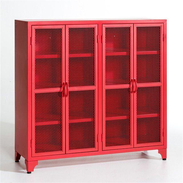 biblioth que m tal kargo am pm la redoute larg 120 x. Black Bedroom Furniture Sets. Home Design Ideas