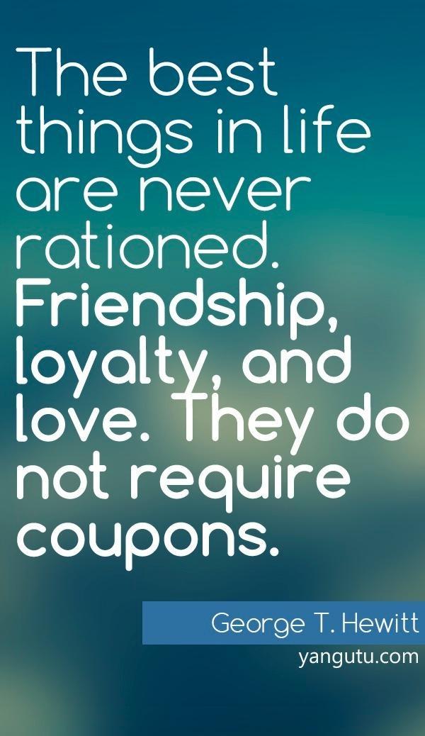 Loyalty genuine friendship