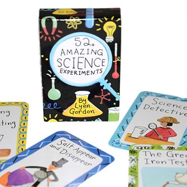 Guess how many enlightening projects for the amateur scientist are featured in our 52 Amazing Science Experiments Card Deck?  You guessed it.  52!  Great observation skills there.  See you're perfect scientist material!  This set is packed with concoctions and experiments that could turn you into the next great inventor of our age!  A great gift for kids.  Especially when they're at the awkward age when you have no idea what's cool or not.  Science never goes out of style!  Deck contains 52…