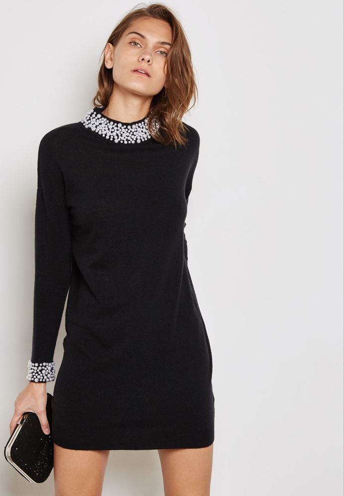 Wallis Embellished Detail Dress Black Size S Uk 8 10 Rrp 45 Dh182 Mm 19 Fashion Clothing Shoes Accessories Wom Clothes For Women Dresses Shift Dress Black
