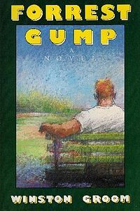 Forrest Gump by Winston Groom. Really good book! Completely different from the movie.