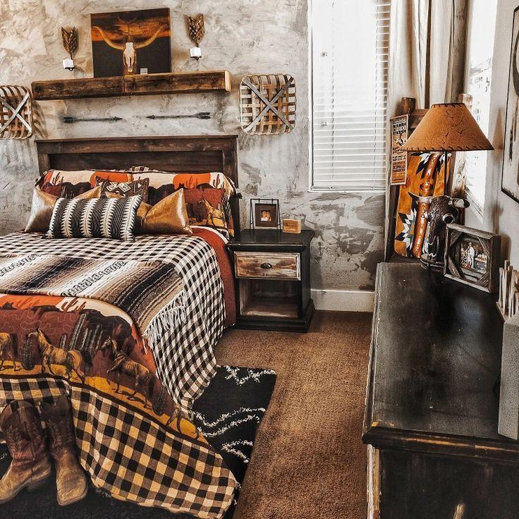 Diy Kunstbetonwand Home Project Do It Yourself In 2020 Western Bedrooms Western Bedroom Decor Western Rooms