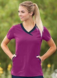 Cute scrub top. If you've got to wear them they might as well be cute!