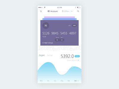 Bank app mockup
