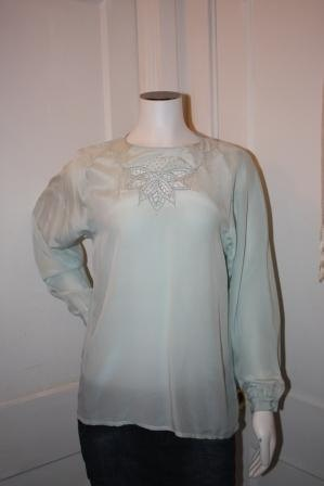 Jade Silk Blouse 10 116