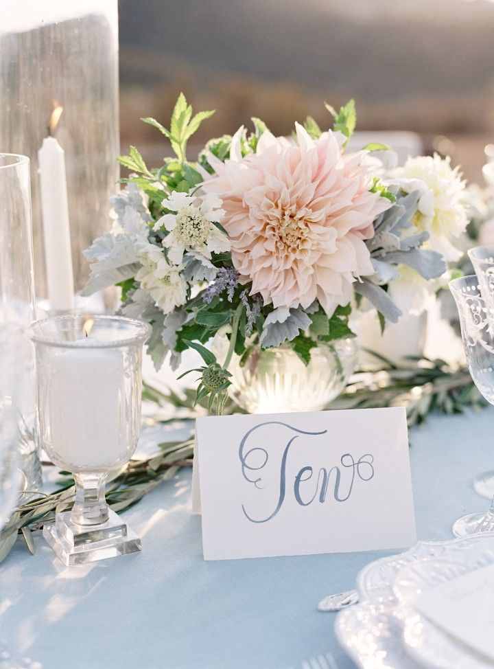 California Wedding: Fresh Powder Blue Decor - MODwedding