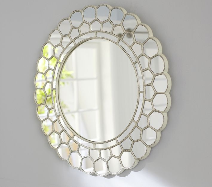 White Circle Blossom Mirror   Baby Love   Pottery Barn Kids, Mirror,  Pottery Barn