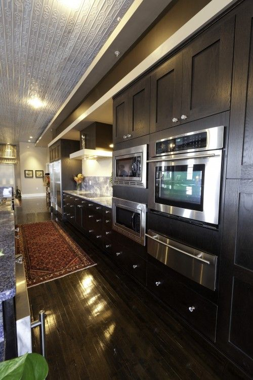 Modern Kitchen DesignKitchens Design, Dreams Kitchens, Contemporary Kitchens, Black Cabinets, Black Kitchens, Galley Kitchens, Modern Kitchens, Kitchens Cabinets, Kitchen Designs
