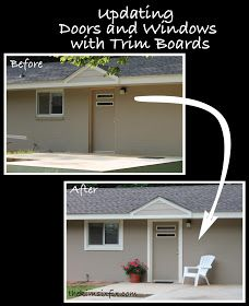 the kim six fix how to use trim to update exterior doors and windows - Exterior Door Trim Stucco