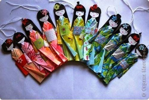 DIY Traditional Japanese Paper Doll Bookmark - The Idea King