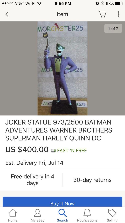 Joker maquette from Warner Bros store.