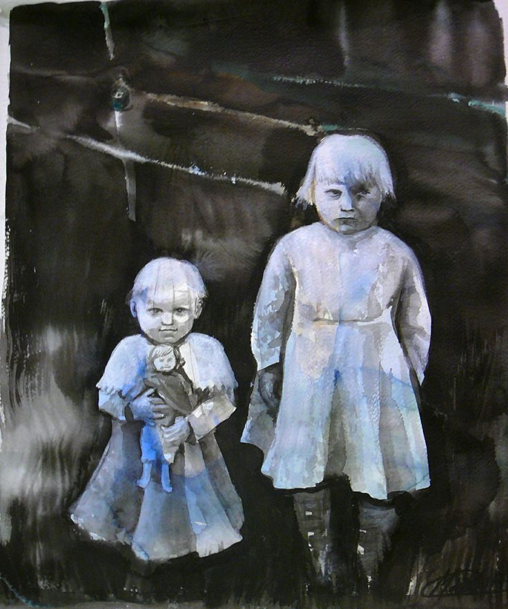 Mai Syrjälä, Mother, we lived, 53 x 45, Warercolour and ink