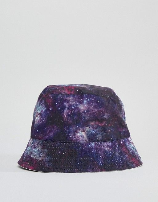 d50e16836d5cb8 ASOS DESIGN festival reversible bucket hat in purple space design at asos .com