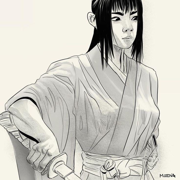 #sketchofday  #digitalart #ilustration #sketch #samurai #girl #katana #japan