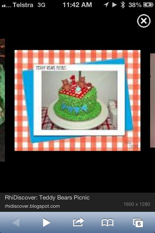 Teddy Bears Picnic bday cake