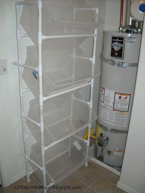 LDS mamá Muchos: Vertical PVC lavandería Clasificador
