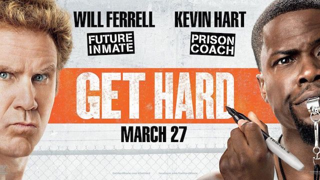 This is a review of 'Get Hard', a comedy starring Will Ferrell and Kevin Hart, which has one man learning from another how to be tough in prison, with mixed results.