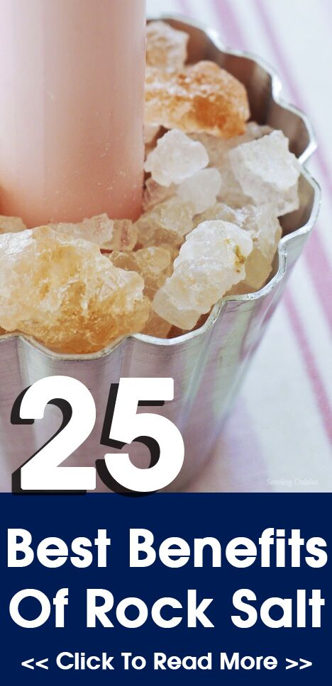 25 Best Benefits Of Rock Salt: Rock salt can be used as a teeth whitener or mouth freshener. Gargling with rock salt provides relief against sore throat.