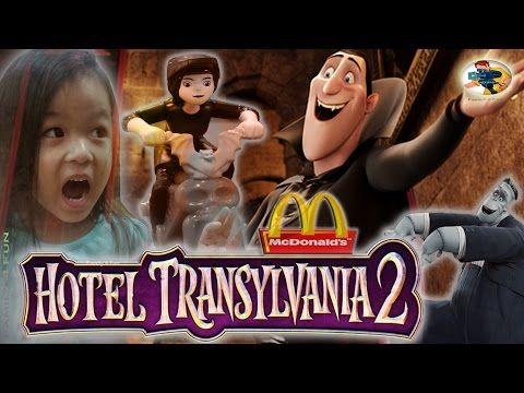 NEW MCDONALDS HOTEL TRANSYLVANIA 2 HAPPY MEAL TOYS Frank And Mavis-Family4Fun Toys 2015 - YouTube